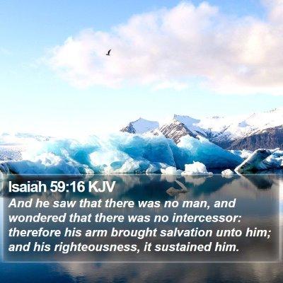 Isaiah 59:16 KJV Bible Verse Image