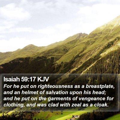 Isaiah 59:17 KJV Bible Verse Image