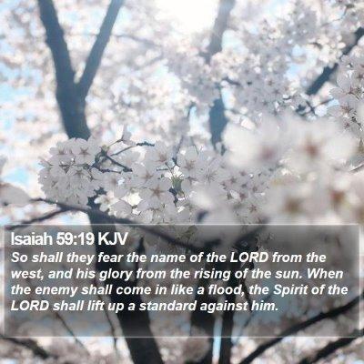 Isaiah 59:19 KJV Bible Verse Image