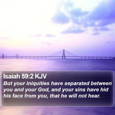 Isaiah 59:2 KJV Bible Verse Image