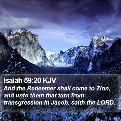 Isaiah 59:20 KJV Bible Verse Image