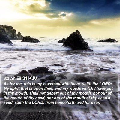 Isaiah 59:21 KJV Bible Verse Image