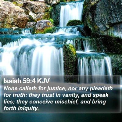 Isaiah 59:4 KJV Bible Verse Image