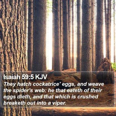 Isaiah 59:5 KJV Bible Verse Image