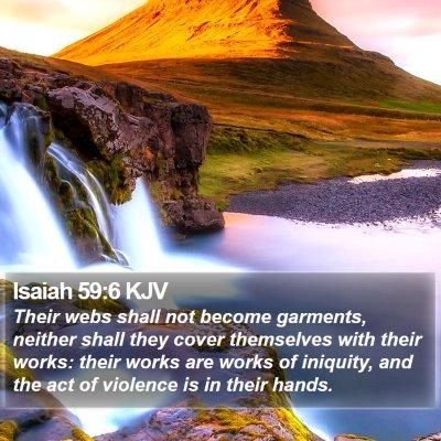 Isaiah 59:6 KJV Bible Verse Image