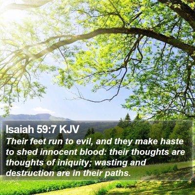 Isaiah 59:7 KJV Bible Verse Image