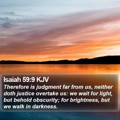 Isaiah 59:9 KJV Bible Verse Image