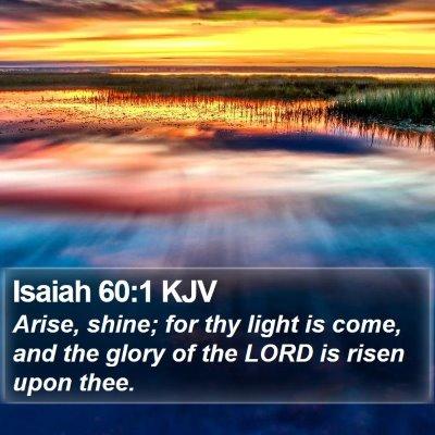 Isaiah 60:1 KJV Bible Verse Image