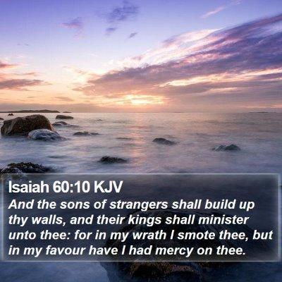 Isaiah 60:10 KJV Bible Verse Image