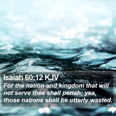Isaiah 60:12 KJV Bible Verse Image