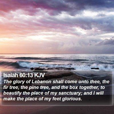 Isaiah 60:13 KJV Bible Verse Image