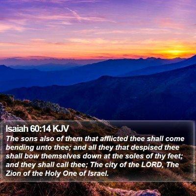 Isaiah 60:14 KJV Bible Verse Image
