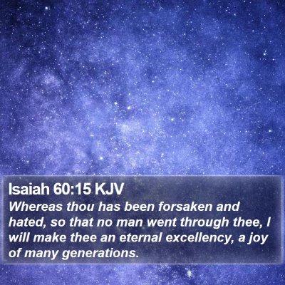 Isaiah 60:15 KJV Bible Verse Image