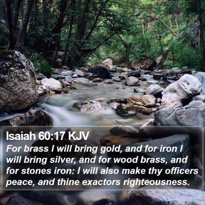 Isaiah 60:17 KJV Bible Verse Image