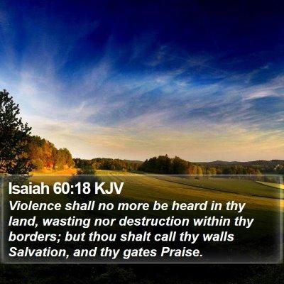 Isaiah 60:18 KJV Bible Verse Image