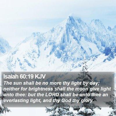 Isaiah 60:19 KJV Bible Verse Image