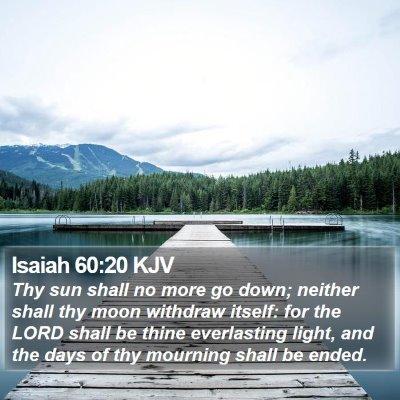 Isaiah 60:20 KJV Bible Verse Image