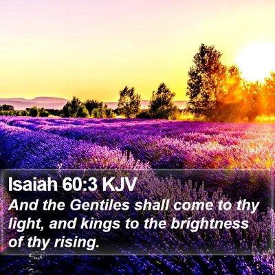Isaiah 60:3 KJV Bible Verse Image