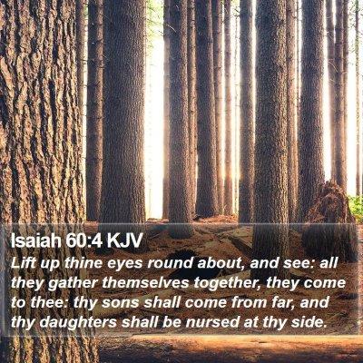 Isaiah 60:4 KJV Bible Verse Image