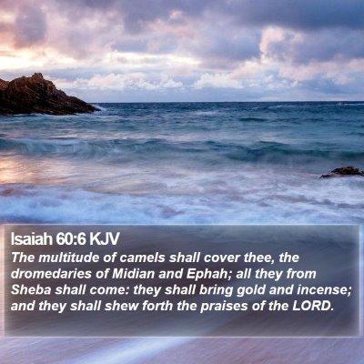 Isaiah 60:6 KJV Bible Verse Image