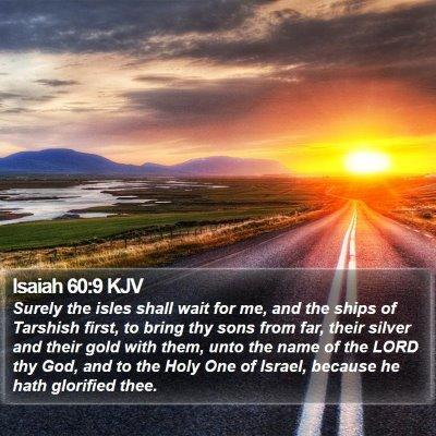 Isaiah 60:9 KJV Bible Verse Image