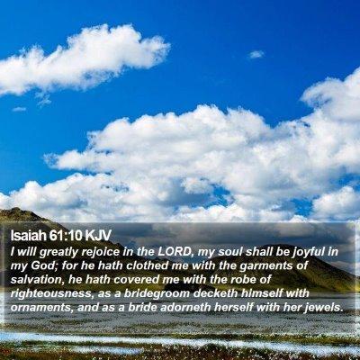 Isaiah 61:10 KJV Bible Verse Image