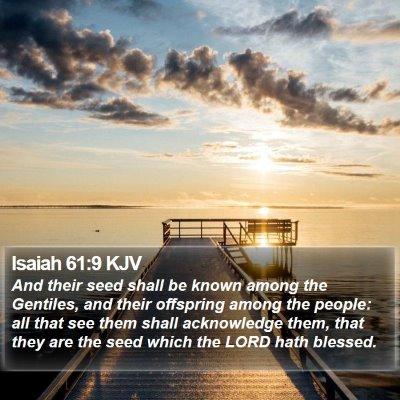 Isaiah 61:9 KJV Bible Verse Image