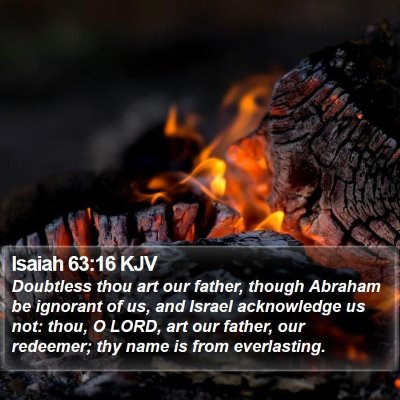 Isaiah 63:16 KJV Bible Verse Image