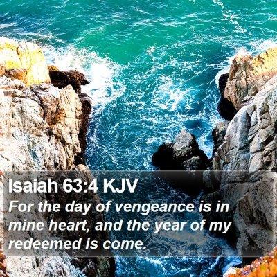 Isaiah 63:4 KJV Bible Verse Image