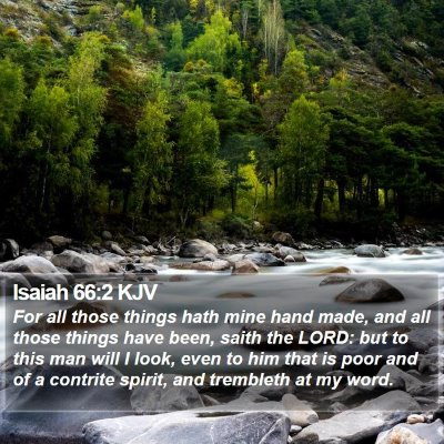 Isaiah 66:2 KJV Bible Verse Image