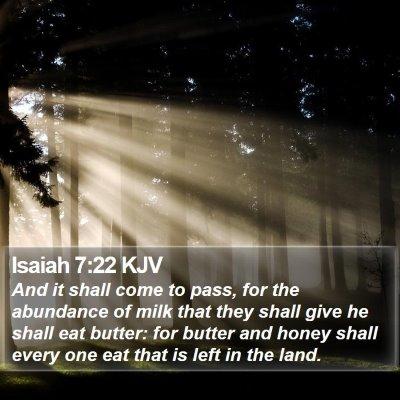 Isaiah 7:22 KJV Bible Verse Image