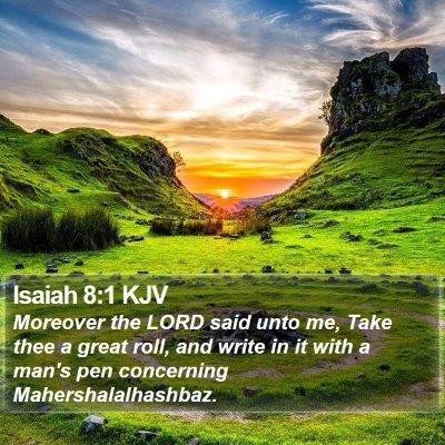 Isaiah 8:1 KJV Bible Verse Image