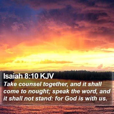 Isaiah 8:10 KJV Bible Verse Image