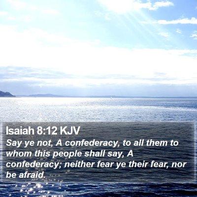 Isaiah 8:12 KJV Bible Verse Image