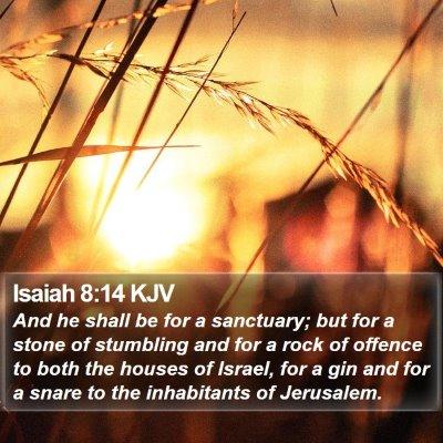 Isaiah 8:14 KJV Bible Verse Image