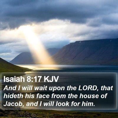 Isaiah 8:17 KJV Bible Verse Image