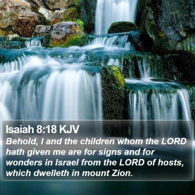 Isaiah 8:18 KJV Bible Verse Image