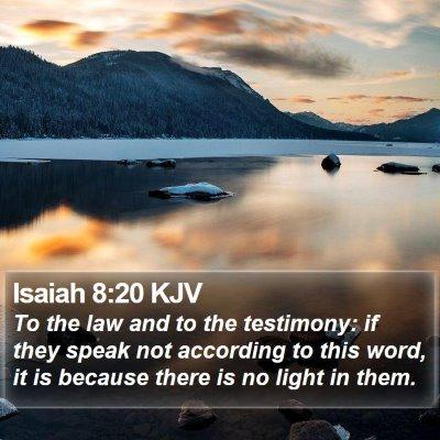 Isaiah 8:20 KJV Bible Verse Image