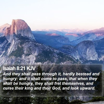 Isaiah 8:21 KJV Bible Verse Image