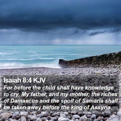Isaiah 8:4 KJV Bible Verse Image