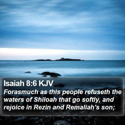Isaiah 8:6 KJV Bible Verse Image