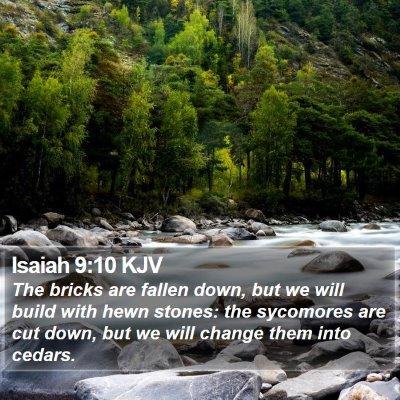 Isaiah 9:10 KJV Bible Verse Image
