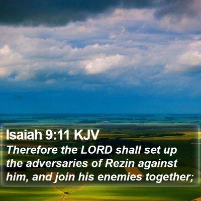 Isaiah 9:11 KJV Bible Verse Image