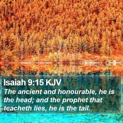 Isaiah 9:15 KJV Bible Verse Image