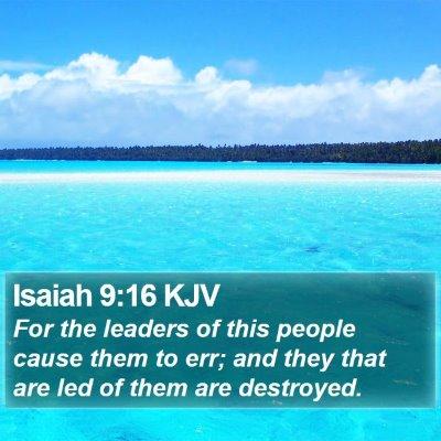 Isaiah 9:16 KJV Bible Verse Image