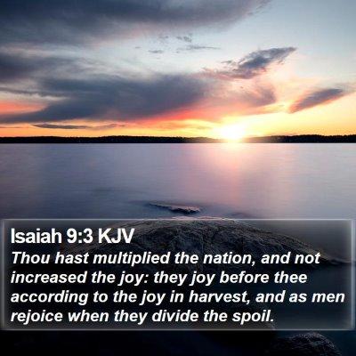 Isaiah 9:3 KJV Bible Verse Image