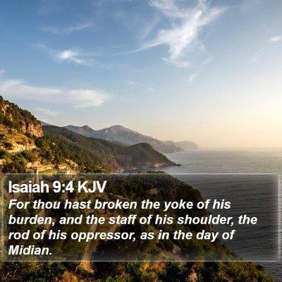 Isaiah 9:4 KJV Bible Verse Image