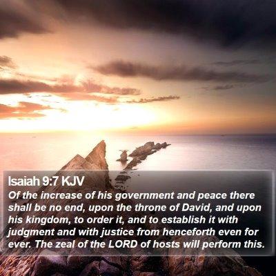 Isaiah 9:7 KJV Bible Verse Image