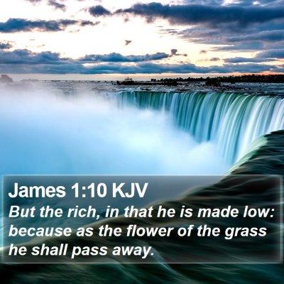 James 1:10 KJV Bible Verse Image
