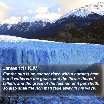 James 1:11 KJV Bible Verse Image